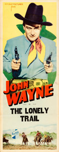 """Movie Posters:Western, The Lonely Trail (Republic, 1936). Folded, Fine/Very Fine. Stock Insert (14"""" X 36"""").. ..."""