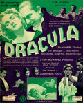 """Movie Posters:Horror, Dracula (Universal, 1931). Very Fine-. Herald (Closed: 2.75"""" X 7"""", Open: 5.5"""" X 7"""").. ..."""