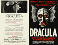 "Movie Posters:Horror, Dracula (1928). Very Fine+. Theater Herald (Folded: 5.5"" X 8.5"" & Unfolded: 11.25"" X 8.5"").. ..."