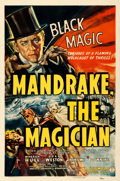"""Movie Posters:Serial, Mandrake the Magician (Columbia, 1939). Very Fine- on Linen. One Sheet (27.25"""" X 41"""").. ..."""