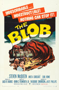 "Movie Posters:Science Fiction, The Blob (Paramount, 1958). Folded, Very Fine+. One Sheet (27"" X 41"").. ..."