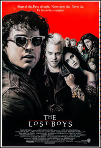 "The Lost Boys (Warner Brothers, 1987). Rolled, Very Fine/Near Mint. Printer's Proof One Sheet (28"" X 41""). Joh..."