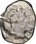 Ancients:Greek, Ancients: CYPRUS. Citium. Azbaal (ca. 449-425 BC). AR stater (26mm, 1h). NGC VF, test cuts, overstruck....