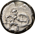 Ancients:Greek, Ancients: PAMPHYLIA. Aspendus. Ca. mid-5th century BC. AR stater (19mm, 5h). NGC XF....
