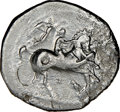 Ancients: CALABRIA. Tarentum. Ca. 340-334 BC. AR stater or didrachm (22mm, 11h). NGC Fine