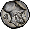 Ancients:Greek, Ancients: LUCANIA. Metapontum. Ca. 340-330 BC. AR stater (20mm, 7.78 gm, 1h). NGC Choice VF 5/5 - 4/5....