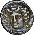 Ancients:Greek, Ancients: THESSALY. Larissa. Ca. 4th century BC. AR drachm (19mm, 6.07 gm, 11h). NGC XF 4/5 - 4/5....