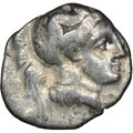 Ancients: CALABRIA. Tarentum. 4th century BC. AR diobol (12mm, 3h). NGC Fine