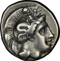 Ancients:Greek, Ancients: LUCANIA. Thurium. Ca. 410-350 BC. AR stater (21mm,7.70gm 12h). NGC Fine 4/5 - 3/5, brushed....