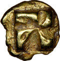 Ancients:Greek, Ancients: IONIA. Uncertain mint. Ca. 625-550 BC. EL 1/24 stater or myshemihecte (7mm, 0.72 gm) NGC Choice XF 4/5 - 4/5....