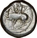 Ancients:Greek, Ancients: CILICIA. Celenderis. Ca. 425-350 BC. AR stater (19mm, 8h). NGC VF....