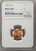 Lincoln Cents, 1971-S 1C MS67 Red NGC. NGC Census: (32/0). PCGS Population: (33/0). CDN: $200 Whsle. Bid for problem-free NGC/PCGS MS67. M...