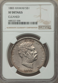 1883 $1 Hawaii Dollar -- Cleaned -- NGC Details. XF. NGC Census: (76/337). PCGS Population: (206/578). CDN: $460 Whsle...