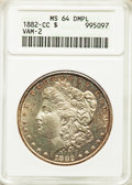 Morgan Dollars, 1882-CC $1 Clashed Die, VAM-2A, MS64 Deep Mirror Prooflike ANACS. MS64. ...