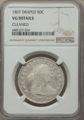 Early Half Dollars, 1807 50C Draped Bust -- Cleaned -- NGC Details. VG. NGC Census: (40/849). PCGS Population: (96/1656). VG8 . Mintage 301,076...