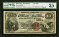 Sheridan, WY - $10 1882 Brown Back Fr. 485 The First National Bank Ch. # (W)4604 PMG Very Fine 25.<