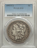 1893-CC $1 Fine 15 PCGS. PCGS Population: (369/6418). NGC Census: (165/3236). CDN: $320 Whsle. Bid for problem-free NGC/...