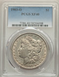 Morgan Dollars: , 1903-O $1 XF40 PCGS. PCGS Population: (31/13886). NGC Census: (8/8360). CDN: $385 Whsle. Bid for problem-free NGC/PCGS XF40...