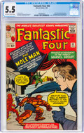 Silver Age (1956-1969):Superhero, Fantastic Four #22 (Marvel, 1964) CGC FN- 5.5 Off-white to white pages....