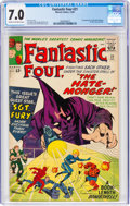 Silver Age (1956-1969):Superhero, Fantastic Four #21 (Marvel, 1963) CGC FN/VF 7.0 Cream to off-white pages....