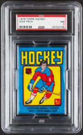 Hockey Cards:Unopened Packs/Display Boxes, 1979 Topps Hockey Unopened Wax Pack PSA Mint 7.. ...