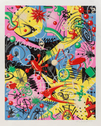 Kenny Scharf (b. 1958) Grammy, 1997 Lithograph on wove paper 43 x 34-5/8 inches (109.2 x 87.9 cm)