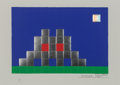 Prints & Multiples, Invader (b. 1969). Home Earth, 2010. Embossed screenprint in colors with foil on paper. 11-5/8 x 16-1/2 inches (29.5 x 4...