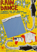 Fine Art - Work on Paper:Print, Various Artists (20th Century). Rain Dance Benefit, poster, 1985. Offset lithograph in colors on smooth wove paper. 31-1...
