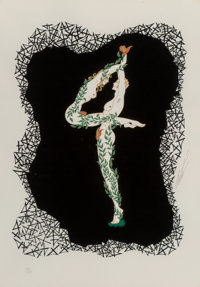 Erté (Romain de Tirtoff) (Russian/French, 1892-1990) No. 4 Serigraph in colors on paper 20-1/2 x 14-1/2 inches (5...
