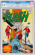 Silver Age (1956-1969):Superhero, The Flash #123 (DC, 1961) CGC FN- 5.5 White pages....