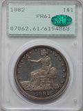 Proof Trade Dollars, 1882 T$1 PR61 PCGS. CAC....