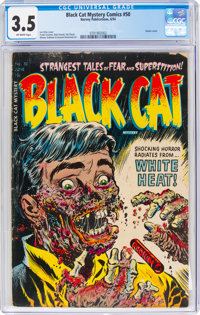 Black Cat Mystery #50 (Harvey, 1954) CGC VG- 3.5 Off-white pages