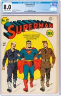 Golden Age (1938-1955):Superhero, Superman #12 (DC, 1941) CGC VF 8.0 Off-white to white pages....
