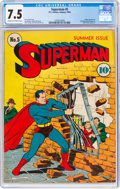 Golden Age (1938-1955):Superhero, Superman #5 (DC, 1940) CGC VF- 7.5 Cream to off-white pages....