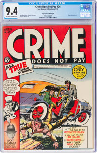 Crime Does Not Pay #26 Mile High Pedigree (Lev Gleason, 1943) CGC NM 9.4 Off-white to white pages