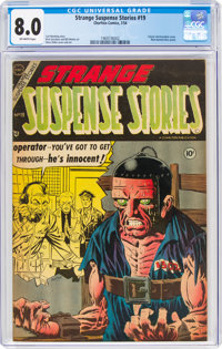 Strange Suspense Stories #19 (Charlton, 1954) CGC VF 8.0 Off-white pages