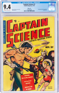 Captain Science #1 Windy City Pedigree (Youthful Magazines, 1950) CGC NM 9.4 Off-white to white pages