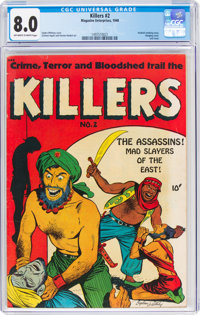 The Killers #2 (Magazine Enterprises, 1948) CGC VF 8.0 Off-white to white pages