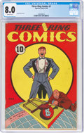 Golden Age (1938-1955):Miscellaneous, Three Ring Comics #1 (Superior Comics, 1946) CGC VF 8.0 Off-white pages....