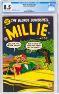 Golden Age (1938-1955):Humor, Millie the Model #40 (Atlas/Marvel, 1953) CGC VF+ 8.5 Off-white to white pages....