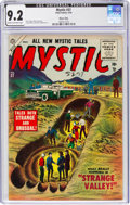 Golden Age (1938-1955):Horror, Mystic #37 River City Pedigree (Atlas, 1955) CGC NM- 9.2 Cream to off-white pages....