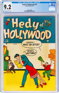 Hedy of Hollywood #41 (Atlas, 1951) CGC NM- 9.2 Cream to off-white pages