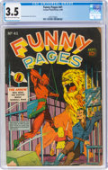 Golden Age (1938-1955):Miscellaneous, Funny Pages #41 (Centaur, 1940) CGC VG- 3.5 Light tan to off-white pages....