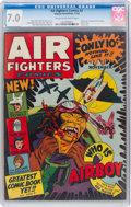 Golden Age (1938-1955):Adventure, Air Fighters Comics #2 (Hillman Fall, 1942) CGC FN/VF 7.0 Cream to off-white pages....