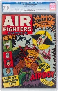 Air Fighters Comics #2 (Hillman Fall, 1942) CGC FN/VF 7.0 Cream to off-white pages