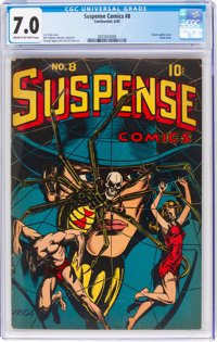 Suspense Comics #8 (Continental Magazines, 1945) CGC FN/VF 7.0 Cream to off-white pages