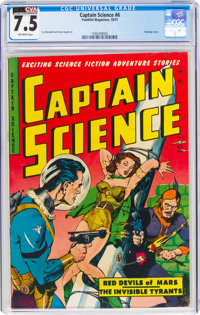 Captain Science #6 (Youthful Magazines, 1951) CGC VF- 7.5 Off-white pages