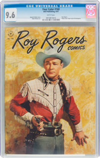 Four Color #160 Roy Rogers (Dell, 1947) CGC NM+ 9.6 White pages