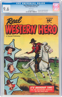 Real Western Hero #70 (Fawcett Publications, 1948) CGC NM+ 9.6 White pages