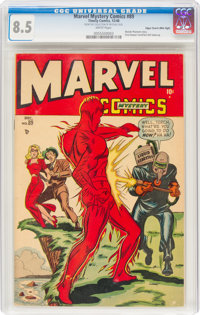 Marvel Mystery Comics #89 Mile High Pedigree (Timely, 1948) CGC VF+ 8.5 White pages